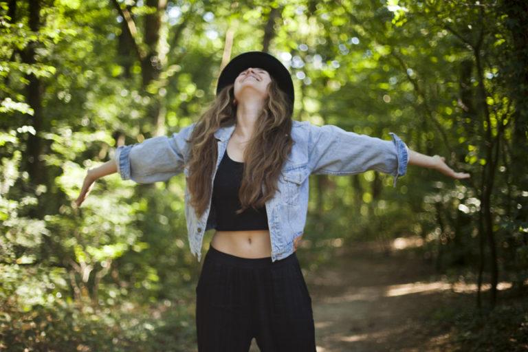 Laura Jorinde in the forest